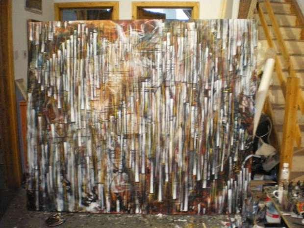 Joseph Loughborough, a working progress in studio